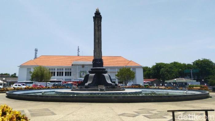 Matahari berada tegak lurus di atas Kota Semarang siang ini. Fenomena kulminasi utama atau hari tanpa bayangan terjadi, seperti apa?