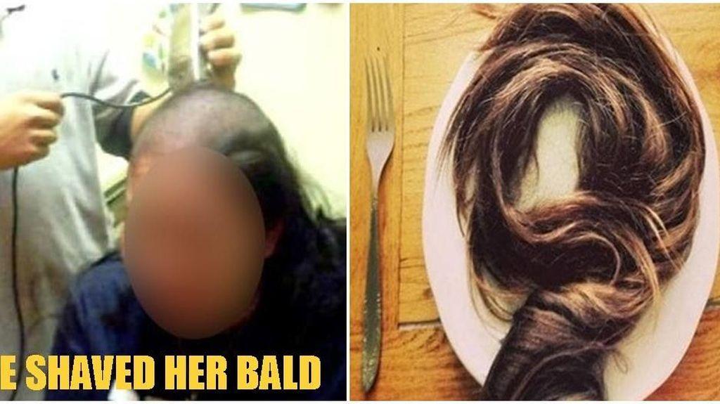Temukan Rambut dalam Makanannya, Pria Ini Marah dan Gunduli Istrinya