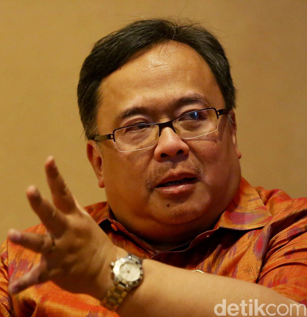 Kepala Badan Perencanaan Pembangunan Nasional Bambang Brodjonegoro di Jakarta, Jumat (10/5/2019). Agung Pambudhy/Detikcom.