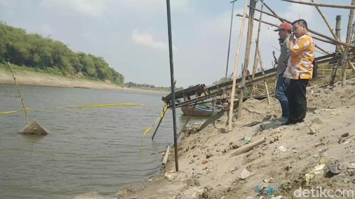 Lokasi penemuan 3 perahu baja di Sungai Bengawan Solo/Foto: Eko Sudjarwo