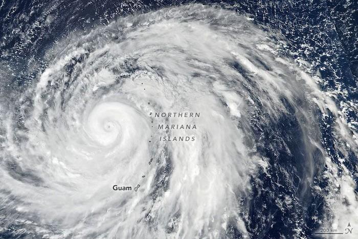 Hagibis pada 8 Oktober. Foto: NASA