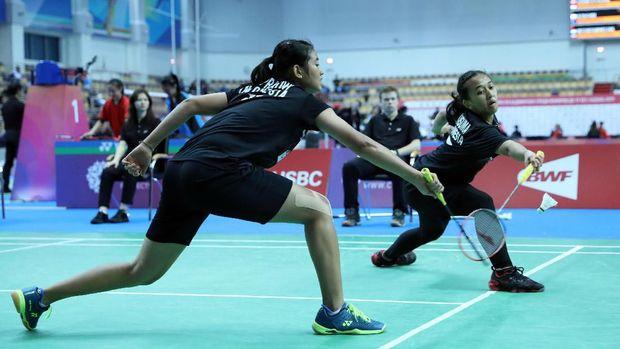 Seluruh wakil Indonesia di final Kejuaraan Dunia Badminton Junior berasal dari nomor ganda.