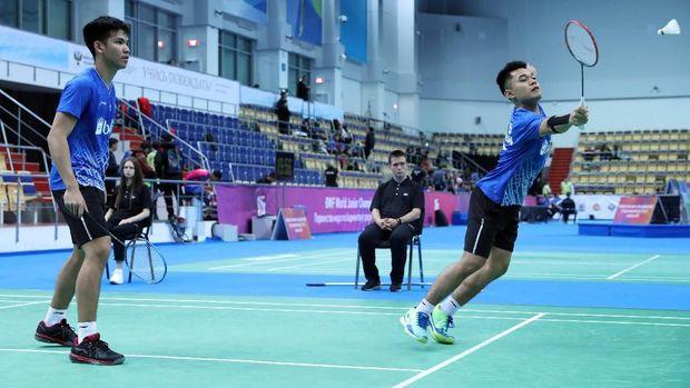 Leo/Daniel jadi satu-satunya yang juara dari tiga wakil Indonesia di final Kejuaraan Dunia Badminton Junior.