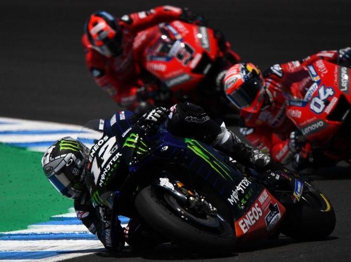 MotoGP Australiaia bisa disaksikan di detikSport via loive streaming. (Foto: Gabriel Bouys / AFP)