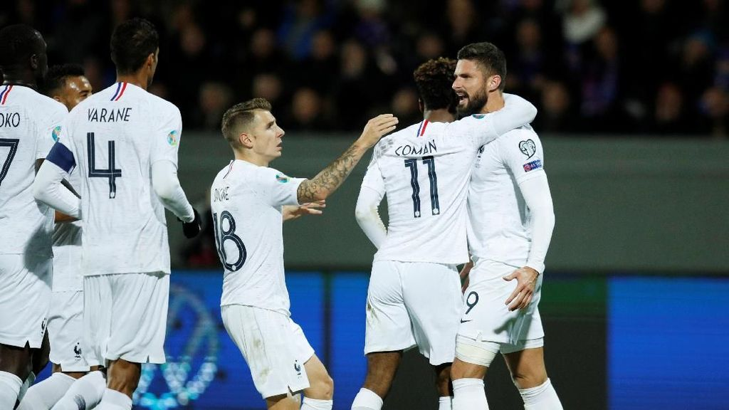 Kualifikasi Piala Eropa 2020: Gol Giroud Bawa Prancis Kalahkan Islandia 1-0