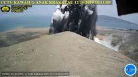 Gunung Anak Krakatau erupsi pada Sabtu (12/10) pagi