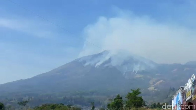 Pemadaman Kebakaran Gunung Arjuno-Welirang Terkendala Jumlah Personel