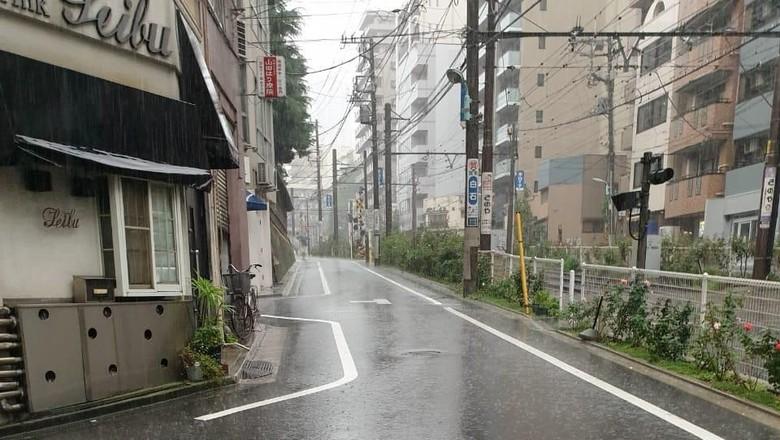 Suasana di Tokyo yang lengang pasca Topan Hagibis (istimewa)