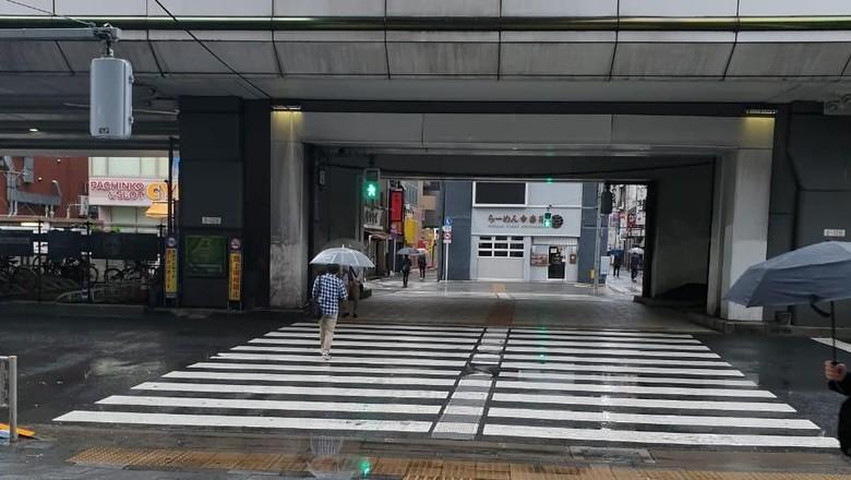 Suasana Stasiun Akihabara pasca Topan Hagibis (Istimewa)