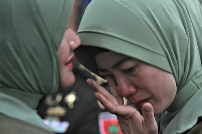 Irma Zulkifli Nasution Hendari, istri mantan Komandan Kodim 1417 Kendari Kolonel Kav Hendi Suhendi. (Antara Foto/Jojon)