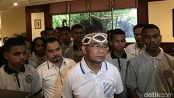 Bertemu Paskibra Asal Papua, Mendikbud Sampaikan Pesan Perdamaian