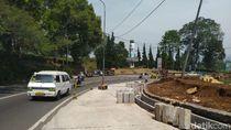 Jelang Penerapan Sistem 2-1 di Puncak, Sebagian Ruas Jalan Diperlebar