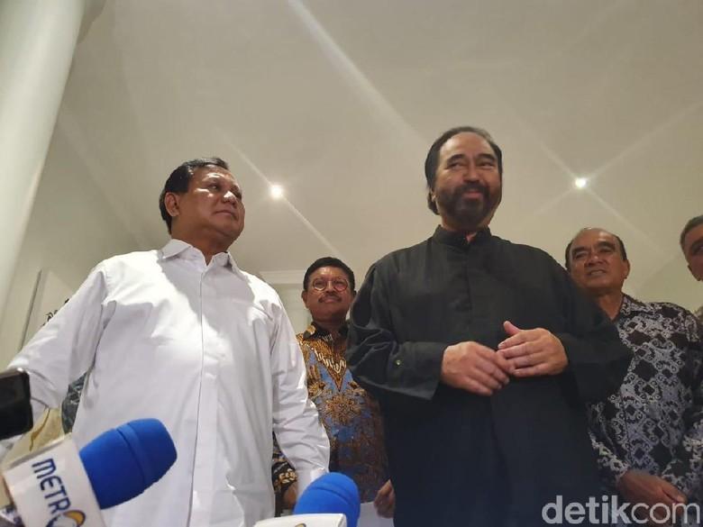 Prabowo-Surya Paloh Ngaku Tak Bahas Kursi Menteri saat Bertemu