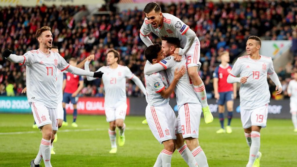 Kualifikasi Piala Eropa 2020: Spanyol Tertahan di Markas Norwegia 1-1