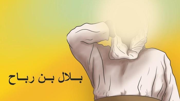 Ilustrasi dan infografis Bilal bin Rabbah