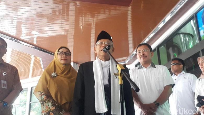 Jenguk Wiranto, Maruf Amin: Mudah-mudahan Segera Membaik