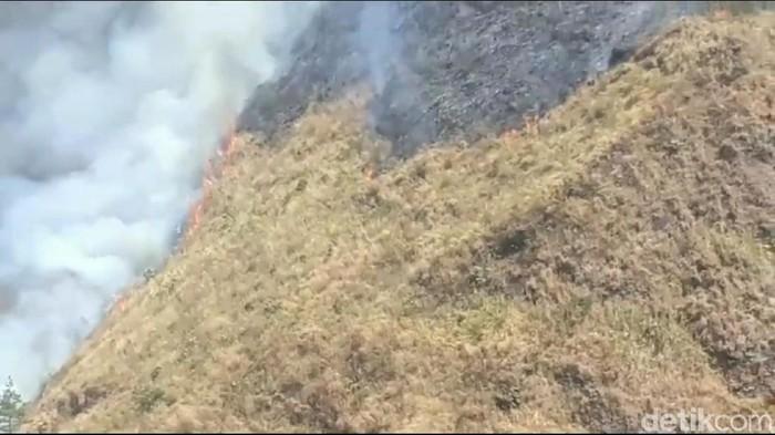 Asap yang mengepul dari kebakaran di Gunung Ringgit/Foto: Muhajir Arifin