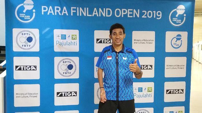 David Jacobs, juara Para Tenis Meja di Finland Open 2019. (Foto: dok. KBRI Helsinki)