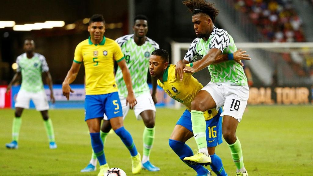 Laga Persahabatan: Neymar Cedera, Brasil Diimbangi Nigeria 1-1