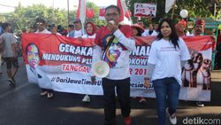 Relawan Jokowi Aksi Damai di CFD Sidoarjo Dukung Pelantikan Presiden