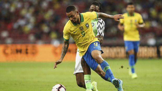 Timnas Brasil tertinggal lebih dahulu dari Nigeria.