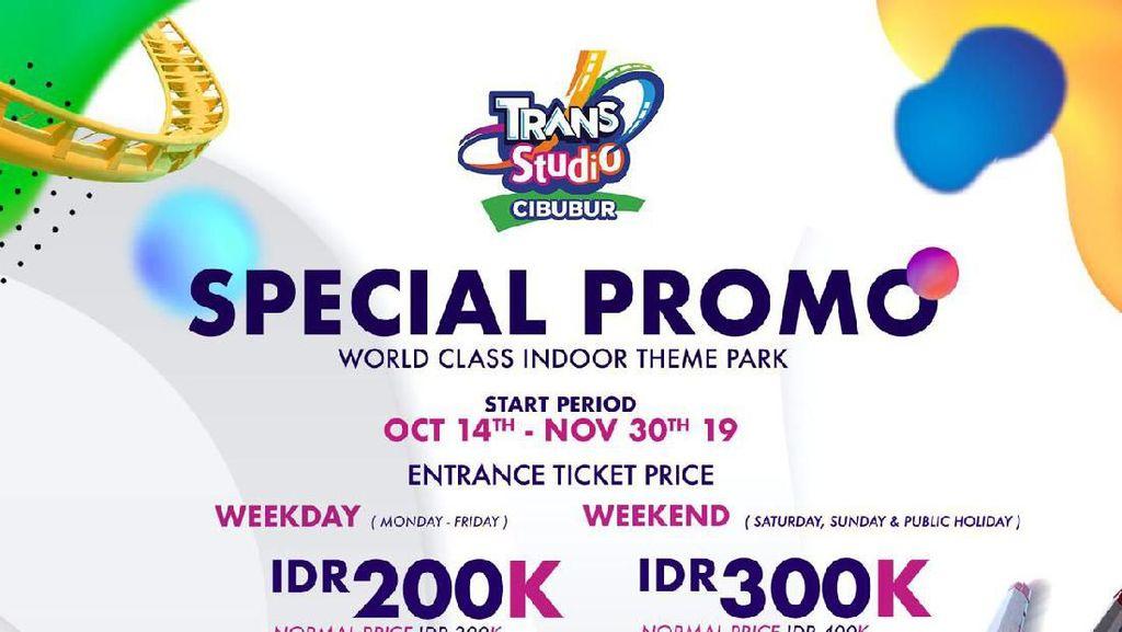 Yeay! Masuk Trans Studio Cibubur Diskon Rp 100 Ribu