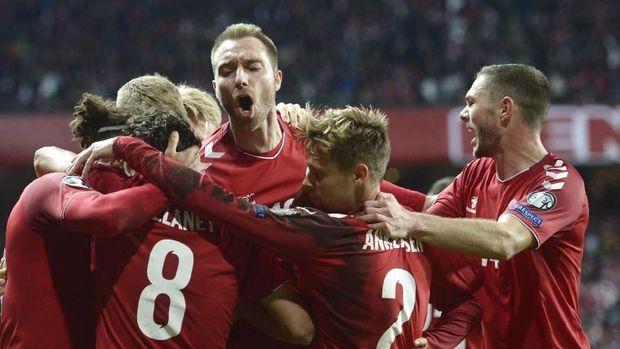 Denmark mengakhiri pertandingan dengan kemenangan 1-0.