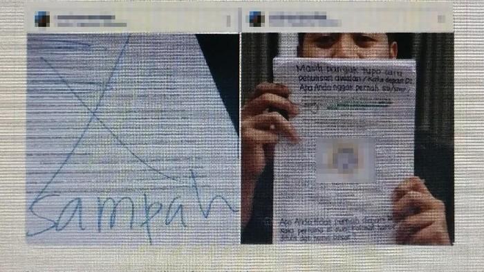 Viral skripsi yang dicoret sampah. Foto: tangkapan layar Twitter
