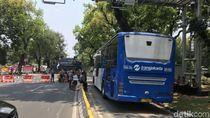 Jalan Medan Merdeka Barat Ditutup, TransJakarta Masih Bisa Melintas