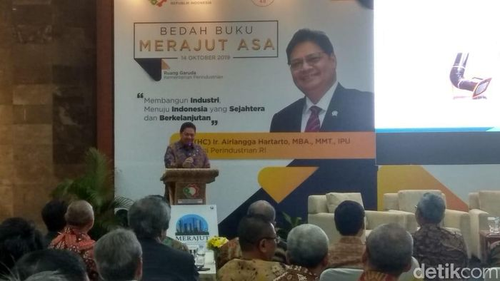 Menteri Perindustrian Airlangga Hartarto/Foto: Trio Hamdani/detikcom