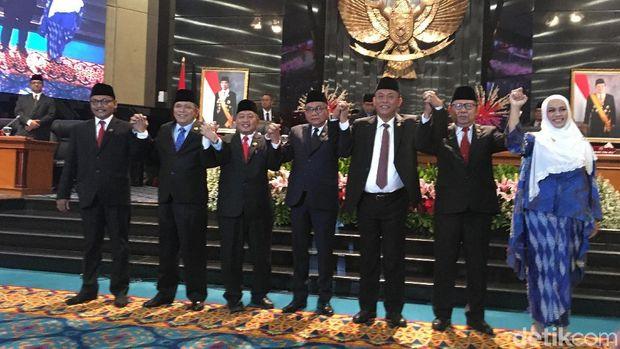 Pelantikan pimpinan DPRD DKI Jakarta.