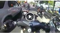 Viral Video Kericuhan Pengemudi Mobil vs Anggota Komunitas Motor
