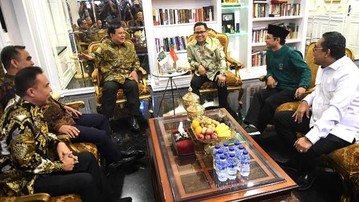 Pertemuan Prabowo Subianto dengan Cak Imin. (Foto: Antara Foto/Akbar Nugroho Gumay)