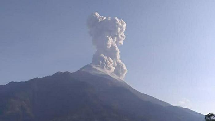 Awan panas letusan Gunung Merapi, tinggi kolom 3 kilometer dari puncak, Senin (14/10/2019). Foto: dok. BPPTKG