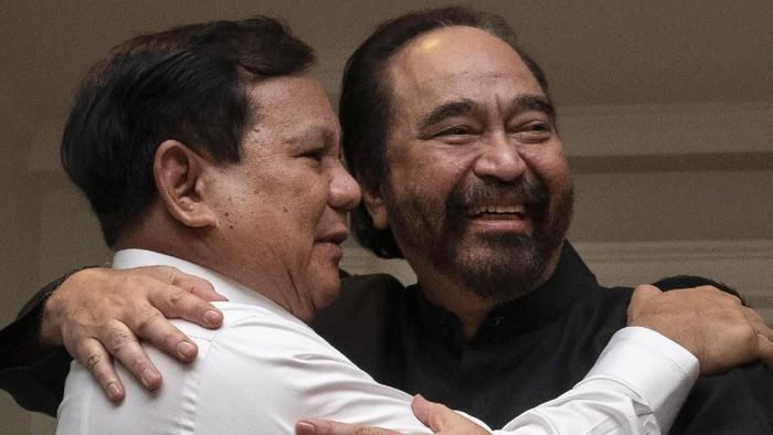 Foto: Prabowo dan Surya Paloh (ANTARA FOTO/Dhemas Reviyanto/wsj)