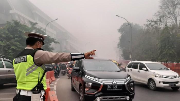 Kabut Asap Selimuti Palembang (Foto: Raja Adil Siregar/detikcom)