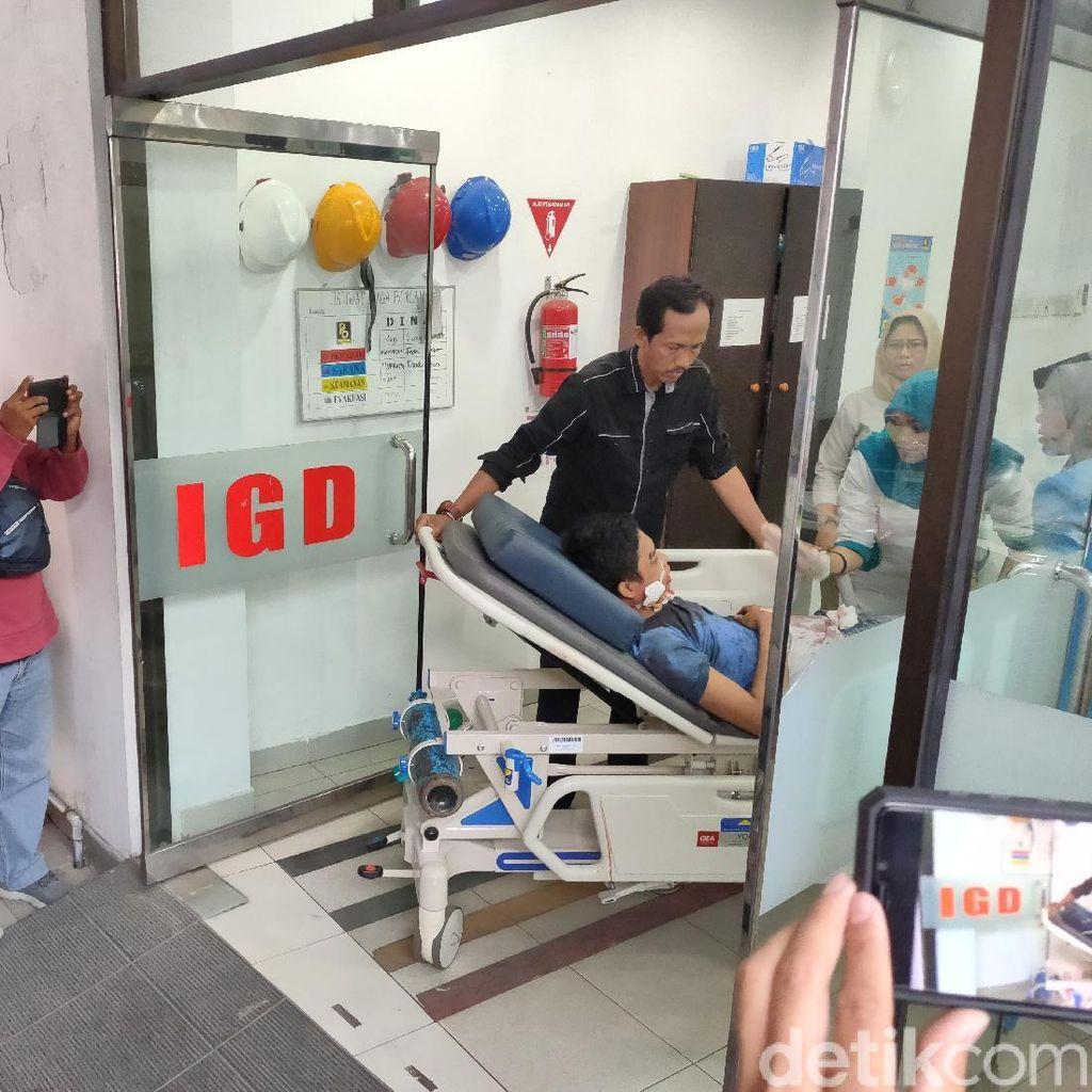 Jatuh dari Kanopi, Pekerja Hotel di Medan Patah Kaki