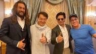 Shah Rukh Khan Pose Bareng Jackie Chan dan Jason Momoa