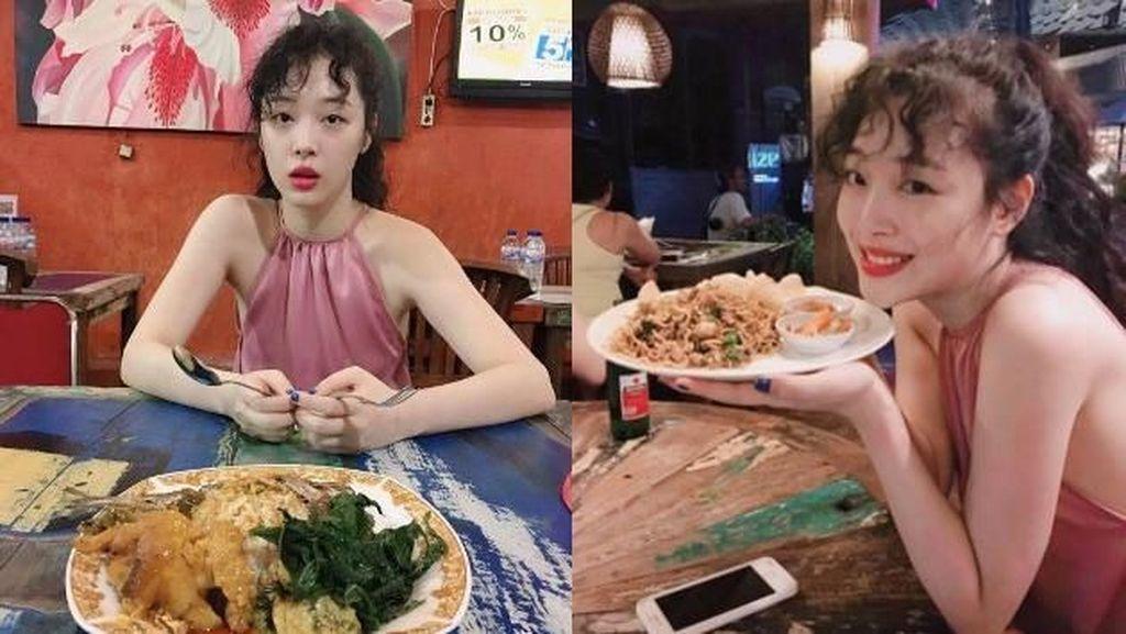 Pernah Cicipi Nasi Padang, Ini 5 Kenangan Kulineran Sulli eks Member F(X)