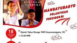Warga Yogya Akan Gelar Pesta Budaya Sambut Pelantikan Jokowi