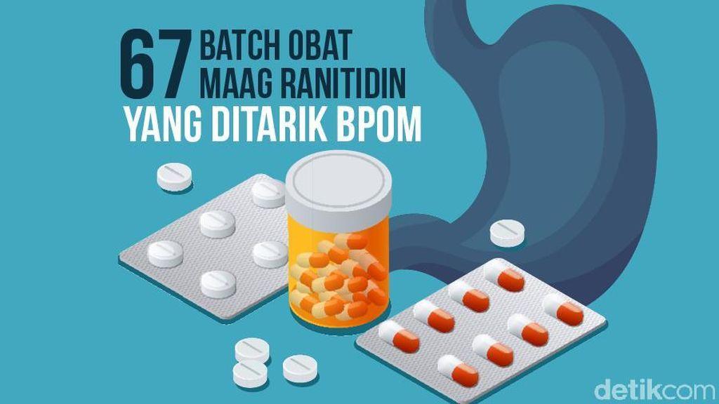 Daftar Lengkap Obat Maag Ranitidin yang Ditarik BPOM Terkait Risiko Kanker