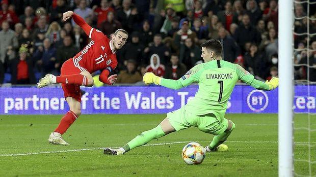 Gareth Bale mencetak satu gol pada laga lawan Kroasia.