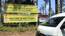 Pengelola Kawah Putih Pasang Spanduk Dilarang Menyalakan Api