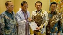 Temui Sandiaga Uno, Pimpinan MPR Antar Undangan Pelantikan Presiden
