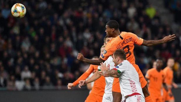 Timnas Belanda saat mengalahkan Belarusia 2-1. (