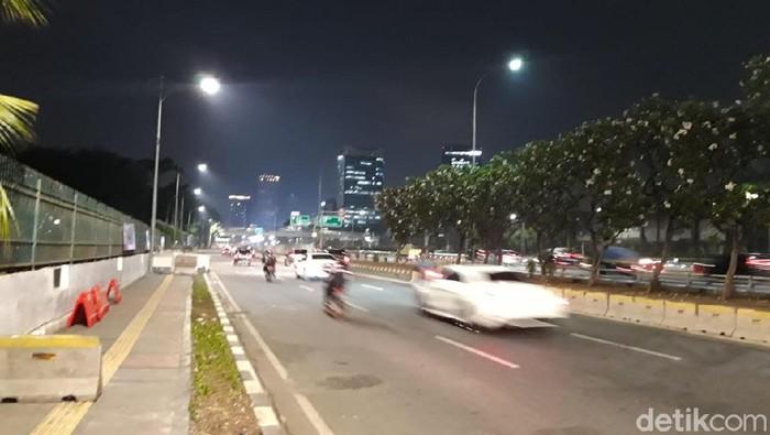 Jl Gatot Subroto menuju Grogol sudah dibuka. (Rahel Narda/detikcom)
