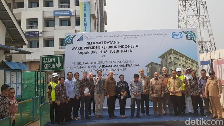 Tinjau Pembangunan UIII di Depok, JK Targetkan Rampung 2021