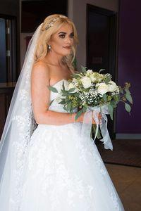 Gemma setelah berhasil diet dan mengenakan gaun pernikahan impiannya