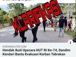 Kodim Kendari Luruskan Hoax Posting-an Kolonel HS Bantu Korban Kecelakaan