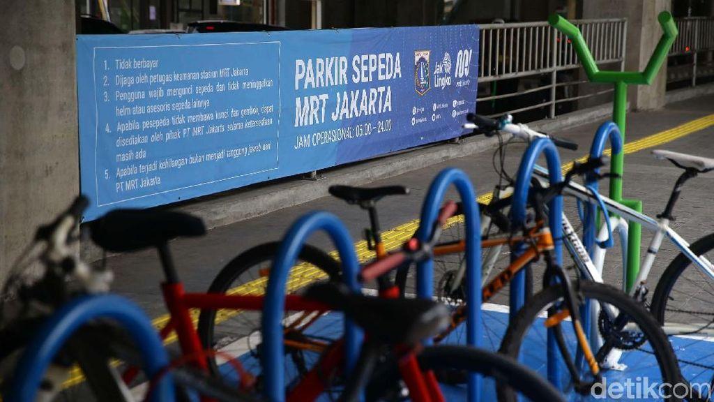 Hore! Stasiun MRT Punya Tempat Parkir untuk Sepeda